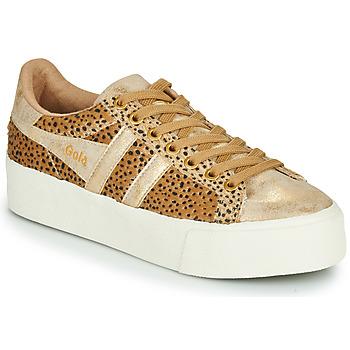 Schoenen Dames Lage sneakers Gola ORCHID PLATEFORM SAVANNA Goud / Guépard