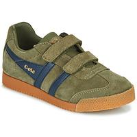 Schoenen Kinderen Lage sneakers Gola HARRIER VELCRO Kaki / Marine