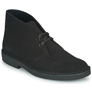 Schoenen Heren Laarzen Clarks DESERT BOOT 2 Zwart