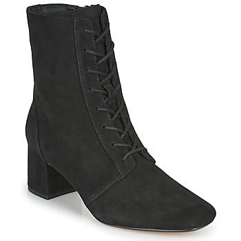 Schoenen Dames Enkellaarzen Clarks SHEER55 LACE Zwart