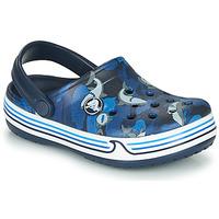 Schoenen Jongens Klompen Crocs CROCBAND SHARK CLOG PS Blauw