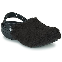 Schoenen Klompen Crocs CLASSIC FUZZ MANIA CLOG Zwart
