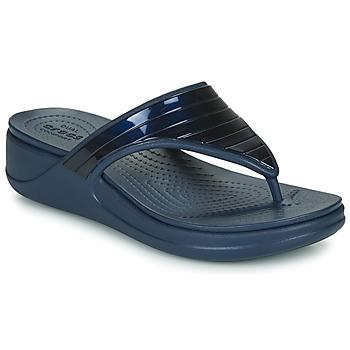 Schoenen Dames Slippers Crocs CROCSMONTEREYMETALLICSTPWGFPW Marine