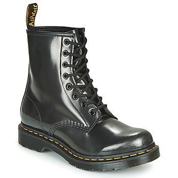 Schoenen Dames Laarzen Dr Martens 1460 W Zilver