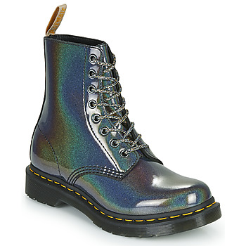 Schoenen Dames Laarzen Dr Martens VEGAN 1460 PASCAL Zilver
