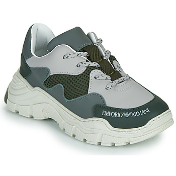 Schoenen Kinderen Lage sneakers Emporio Armani XYX008-XOI34 Groen / Grijs