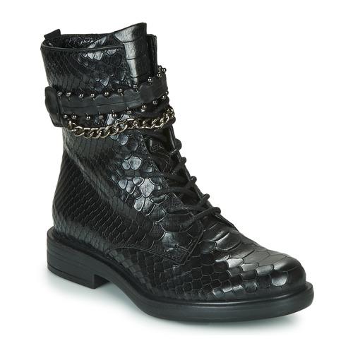 Schoenen Dames Laarzen Mjus CAFE SNAKE Zwart