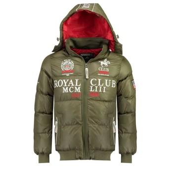 Textiel Jongens Dons gevoerde jassen Geographical Norway AVALANCHE BOY Kaki