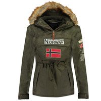 Textiel Jongens Parka jassen Geographical Norway BARMAN BOY Kaki