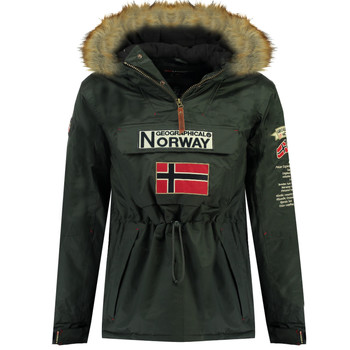Textiel Jongens Parka jassen Geographical Norway BARMAN BOY Grijs