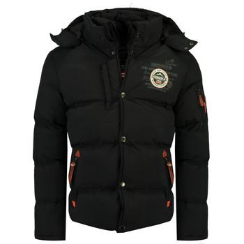 Textiel Jongens Dons gevoerde jassen Geographical Norway VERVEINE BOY Zwart