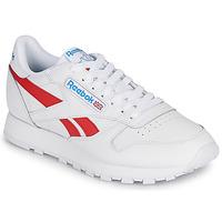 Schoenen Lage sneakers Reebok Classic CL LTHR Wit / Rood
