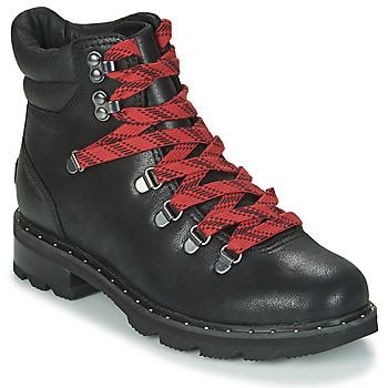 Schoenen Dames Laarzen Sorel LENNOX HIKER Zwart