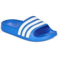Schoenen Jongens Slippers adidas Performance ADILETTE AQUA K Blauw / Wit