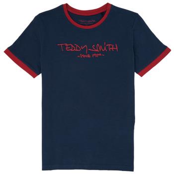 Textiel Jongens T-shirts korte mouwen Teddy Smith TICLASS 3 Marine
