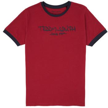 Textiel Jongens T-shirts korte mouwen Teddy Smith TICLASS 3 Rood