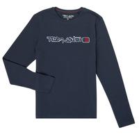 Textiel Jongens T-shirts met lange mouwen Teddy Smith CLAP Marine