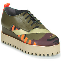 Schoenen Dames Derby United nude JUKO CALLI Kaki / Orange / Goud