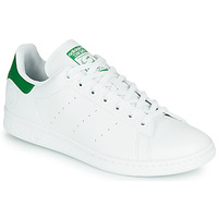 Schoenen Lage sneakers adidas Originals STAN SMITH VEGAN Wit / Groen