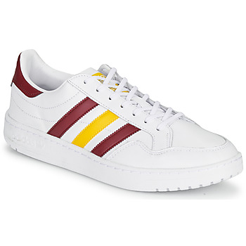 Schoenen Lage sneakers adidas Originals TEAM COURT Wit / Bordeaux / Geel