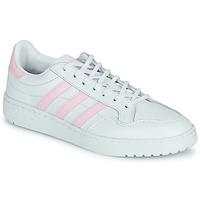 Schoenen Dames Lage sneakers adidas Originals TEAM COURT W Wit / Roze