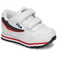 Schoenen Kinderen Lage sneakers Fila ORBIT VELCRO INFANTS Wit / Blauw