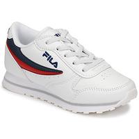 Schoenen Kinderen Lage sneakers Fila ORBIT LOW KIDS Wit / Blauw