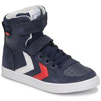 Schoenen Kinderen Hoge sneakers Hummel SLIMMER STADIL HIGH JR Blauw
