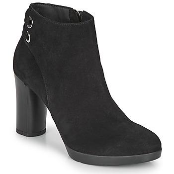 Schoenen Dames Enkellaarzen Geox ANYLLA HIGH Zwart
