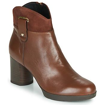 Schoenen Dames Enkellaarzen Geox ANYLLA MID Brown