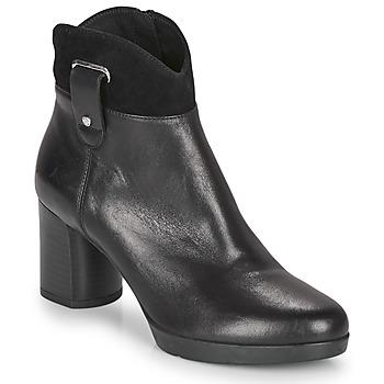 Schoenen Dames Enkellaarzen Geox ANYLLA MID Zwart
