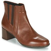 Schoenen Dames Enkellaarzen Geox NEW ANNYA MID Brown
