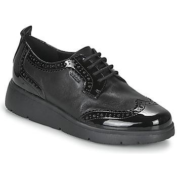 Schoenen Dames Derby Geox ARLARA Zwart