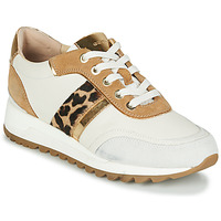Schoenen Dames Lage sneakers Geox TABELYA Wit / Leopard