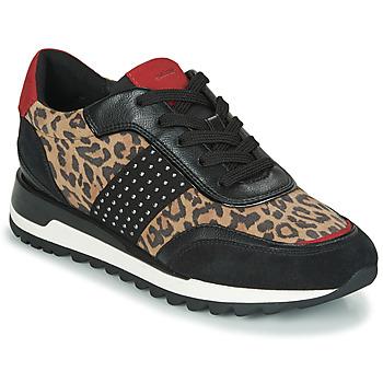 Schoenen Dames Lage sneakers Geox TABELYA Leopard / Zwart