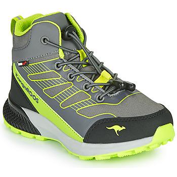Schoenen Jongens Hoge sneakers Kangaroos K-SCOUT RTX Grijs / Groen