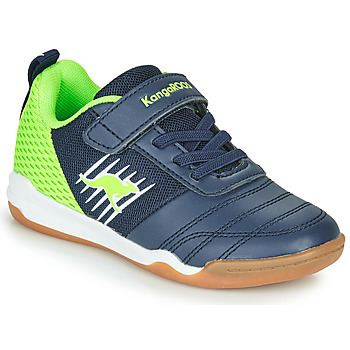 Schoenen Jongens Lage sneakers Kangaroos SUPER COURT EV Blauw / Groen