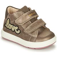 Schoenen Meisjes Laarzen Geox BIGLIA Brown