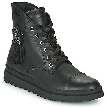 Schoenen Meisjes Laarzen Geox GILLYJAW Zwart