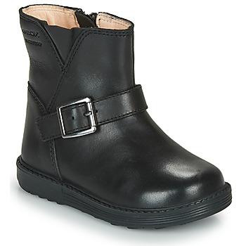 Schoenen Meisjes Hoge laarzen Geox HYNDE WPF Zwart