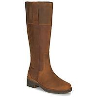 Schoenen Dames Hoge laarzen Timberland GRACEYNTALLSIDEZIPWP Brown