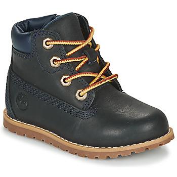 Schoenen Kinderen Laarzen Timberland POKEY PINE 6IN BOOT WITH Blauw
