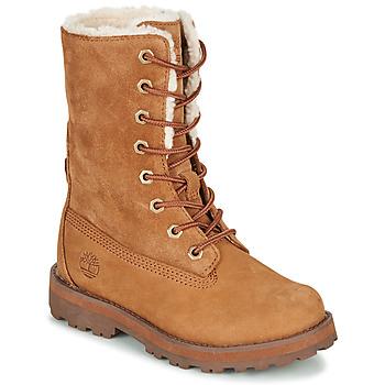 Schoenen Kinderen Laarzen Timberland COURMA KID SHRL RT Brown