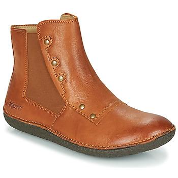 Schoenen Dames Laarzen Kickers HAPPLI Brown