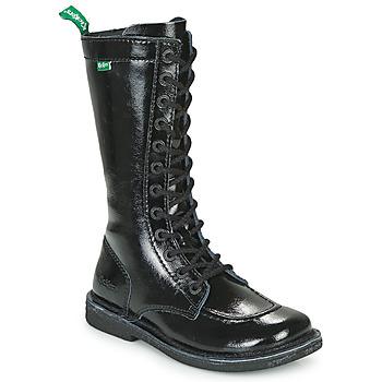 Schoenen Dames Hoge laarzen Kickers MEETKIKNEW Zwart / Verni