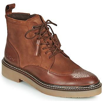 Schoenen Dames Laarzen Kickers OXANYHIGH Brown