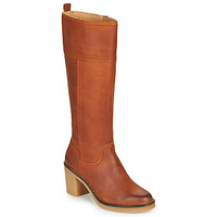 Schoenen Dames Hoge laarzen Kickers AVERNO Orange /  camel