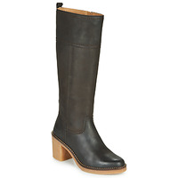 Schoenen Dames Hoge laarzen Kickers AVERNO Brown / Donker