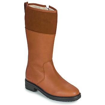 Schoenen Dames Hoge laarzen Kickers WATHIGH  camel