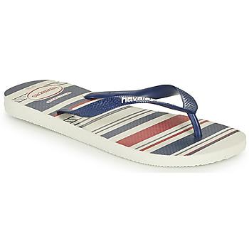 Schoenen Heren Slippers Havaianas TOP NAUTICAL Blauw / Rood